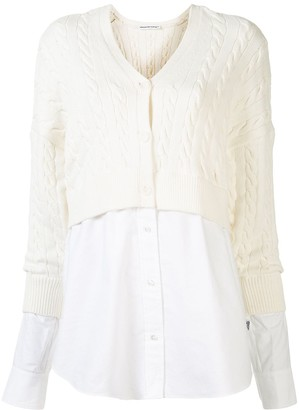 T By Alexander Wang Two Layer Cardigan