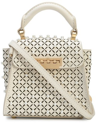 ZAC Zac Posen Pearl-Detail Cut-Out Tote Bag
