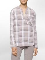 Calvin Klein Plaid Henley Shirt