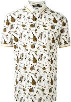 Dolce & Gabbana musical instrument print polo shirt - men - Cotton - 44