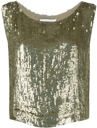 P.A.R.O.S.H. Gummy sequinned top