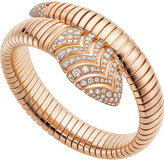 Bvlgari Serpenti Tubogas 18kt pink-gold and diamond bracelet
