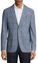Tallia Orange Paisley Cotton Denim Jacket