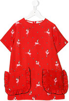 Simonetta ballerina print dress - kids - Silk/Cotton/Viscose - 4 yrs