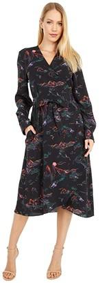 Boutique Moschino Rose Dress (Black) Women's Clothing