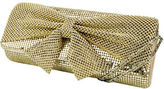Jessica McClintock Metal Embellished Clutch with Bow Accent