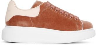Alexander McQueen Velvet rose gold classic sneakers
