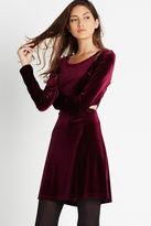 BCBGeneration Flared Velvet Dress