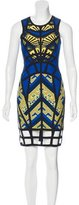 Herve Leger Karmelle Jacquard Dress