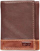 Levi's Men's Colorblocked Tri-Fold Leather Wallet