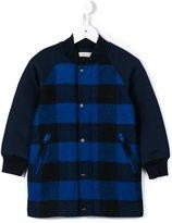 Stella McCartney bomber-inspired check coat