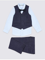 Marks and Spencer 4 Piece Waistcoat Trousers & Shirt with Bow Tie Outfit (1-5 Years)