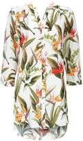 Neutral Tropical Printed Shirt