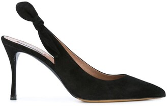 Tabitha Simmons Suede Sling Back Pumps