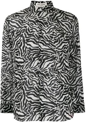 Saint Laurent Tiger Print Shirt
