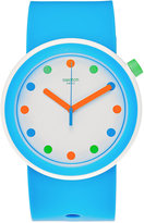 Swatch Unisex Pop Sky Blue Silicone Strap Watch 41mm PNW102