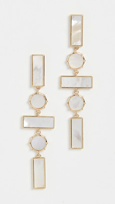 Luv Aj The Mother of Pearl Mosaic Drop Earrings