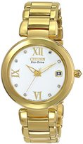 Citizen Eco-Drive Women's EO1112-58A Marne Analog Display Gold Watch