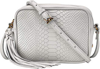 GiGi New York Madison Python-Embossed Leather Crossbody Bag