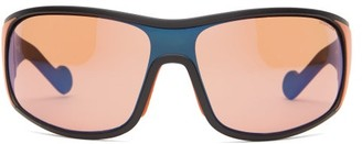 Moncler Logo-print Mirrored-lens Ski Sunglasses - Orange
