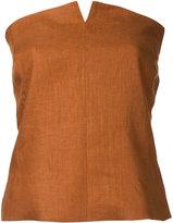 H Beauty&Youth zig-zag print wrap skirt - women - Linen/Flax - S