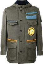 Fendi military jacket - men - Cotton/Nylon/Polyamide/Wool - 48
