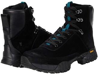 Frye Brit Hiker (Black Multi Suede/Vintage Veg Tan/Brush-Off Veg Tan) Women's Boots