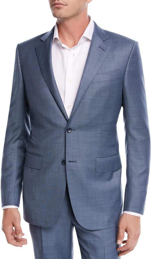 Ermenegildo Zegna Sharkskin Wool Two-Piece Suit