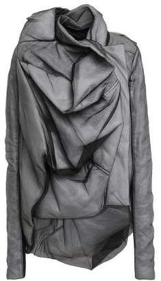 Rick Owens Draped Silk-organza And Ribbed Jersey Jacket