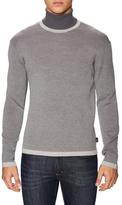 Armani Collezioni Ribbed Turtleneck Sweater