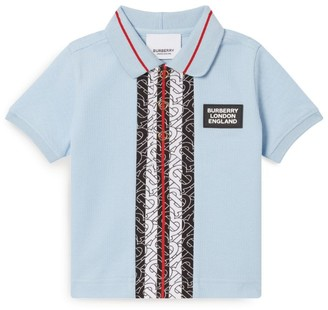 Burberry Kids Icon Stripe Polo Shirt (6-24 Months)