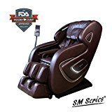 [2017 NEW SM SERIES ] AIR FLOAT 3D+ 6 INFRARED ROLLER MECHANISM KAHUNA SUPERIOR MASSAGE CHAIR - SM-9000 Comb (Brown)