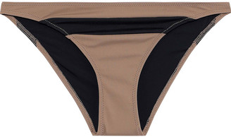 Solid & Striped The Brooke Two-tone Low-rise Bikini Briefs