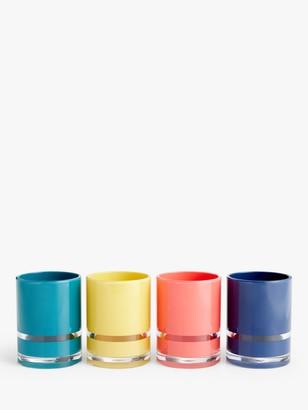 John Lewis & Partners Block Stripe Bathroom Tumblers, Set of 4