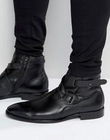Aldo Farlow Leather Strap Boots