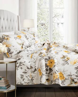Lush Decor Penrose Floral Quilt 3Pc Set