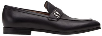 Salvatore Ferragamo Riben Leather Loafers