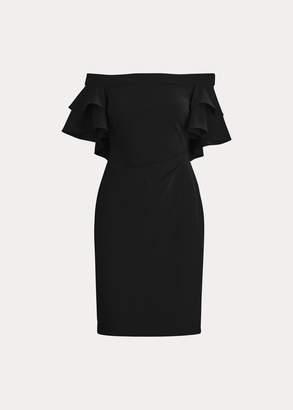 Ralph Lauren Jersey Off-the-Shoulder Dress