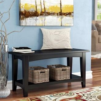 Three Posts Kerlin Wood Storage Bench Color: Chocolate
