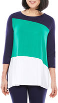 Sag Harbor 3/4 Sleeve Crew Neck Top