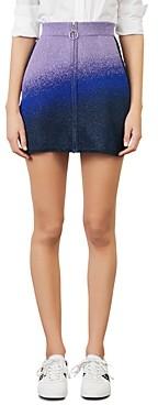 Maje Jiseille Printed Mini Skirt