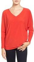 Chaus Women's Embellished V-Neck Dolman Sleeve Top