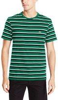 Lacoste Men's Short Sleeve Crewneck Stripe T
