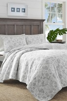 Tommy Bahama Sunkissed Day Twin Quilt & Sham 2-Piece Set - Gray