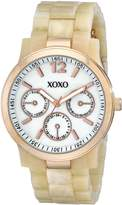 XOXO Women's XO5513 Horn Color Bracelet with Rose Gold Case Watch