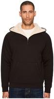 Vince Sherpa 1/2 Zip Pullover Hoodie Men's Sweatshirt