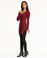 Le Château Rib Wool Blend V-Neck Sweater Tunic