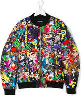 DSQUARED2 graphic print bomber jacket