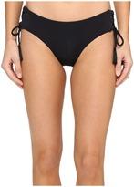 MICHAEL Michael Kors Coastal Solids Lace-Up Bikini Bottom