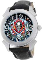 Ed Hardy Men's RE-FS Revolution Flaming Skull Stainless Steel 316L Watch